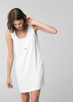 Minimal + Classic: Crepe shift dress / mango