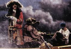 """""""Hook"""" Deleted scene. Captain Hook, Smee and Jack on a boat, they are not at sea but they are playing a pirate game."""