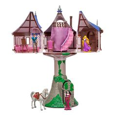 Disney Tangled Rapunzel Tree House Playset Dollhouse with 11 Play Pieces Piece Set), Multicolor Rapunzel Disney, Tangled Rapunzel, Tangled Princess, Tangled Tower, Rapunzel Cake, Princess Disney, Christmas Gift Guide, Christmas Gifts, Christmas Car