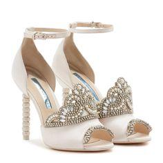 Royalty Sandal Soft Ivory | Sophia Webster Outdoor Wedding Shoes, Sparkly Wedding Shoes, Wedding Boots, Sparkly Shoes, Glitter Shoes, Prom Shoes, Ivory Wedding, Wedding Ring, Dream Wedding