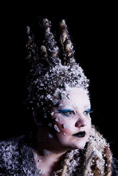 Very Cool ice queen makeup