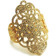 Thaila's Fancy Heirloom Style Gold Floral Design Bracelet - Only $72.95 — Fantasy Jewelry Box