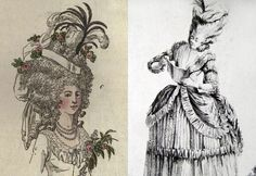 The History Of Coiffure In The XVIII Century.