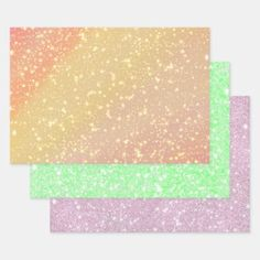 Sparkles in Peach Green Pink Wrapping Paper Sheets Pink Wrapping Paper, Peach And Green, Romantic Gifts, Vintage Gifts, Keep It Cleaner, Sparkles, Holiday Cards, Wraps, Glitter