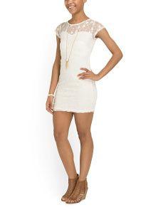 image of Juniors Lace Dress