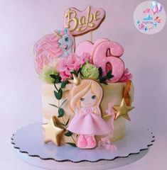 Baby Cakes, Teen Cakes, Girly Cakes, Cute Cakes, Birthday Cakes Girls Kids, Birthday Cupcakes, Girl Birthday, Fondant Cakes, Cupcake Cakes