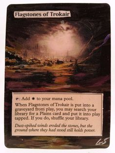 Flagstones of Trokair This Is Only One Of My Altered Cards From This Weeks Batch! To See Them All Go To  www.stores.ebay.com/MTGAlteredMagicCards #MTG #MtgAltered #MtgAlteredArt #MtgHandPainted #MtgExtendedArt #Magic #MagicTheGathering #MtgAlter #Scg #Tcg #WOTC