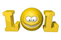 LOL - Facebook Emoticon.  If you type 'LOL' all the time, why not try one of our ramped-up Facebook LOL emoticon like this one!