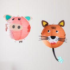 DIY Animal Face Paper Lantern by Beau-coup