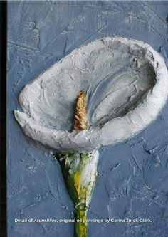 'Arum lilies', original oil painting set of 2 canvasses. By artist Carina Turck-Clark For sale Go to www.facebook.com/thouartuseful/