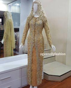 Kebaya Brokat, Kebaya Dress, Kebaya Wedding, Dress Wedding, Dress Brokat Modern, Wedding Hijab Styles, Model Kebaya, Kebaya Muslim, Akad Nikah