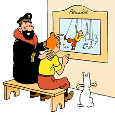 """Look, Tintin! It's you!"" Au théâtre ce soir..."