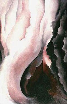 Dark Iris №2 - Georgia O'Keeffe Estilo: Precisionismo Series: Dark Iris Genero: pintura de flores