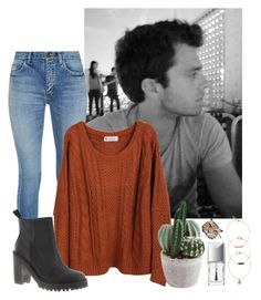 """""""Casual Date with Sebastian"""" by weirdestgirlever ❤ liked on Polyvore featuring Simone Perele, Yves Saint Laurent, Dr. Martens, Christian Dior and Warehouse"""