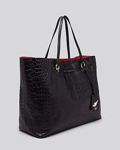 DIANE von FURSTENBERG Tote - Large Sutra Ready To Go Embossed Croc | Bloomingdale's