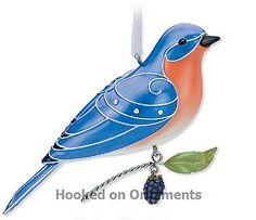 2010 Beauty of Birds Eastern Bluebird Hallmark Keepsake Ornament at Hooked on Hallmark Ornaments