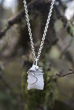 Handmade jewelry. white quartz from the Norwegian mountains