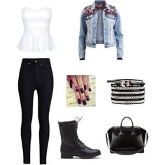 outfit for a night with friends by elodesjardins on Polyvore featuring polyvore fashion style VILA Rodarte Givenchy