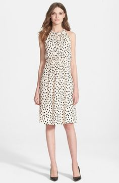 kate spade new york 'leopard dot' dress. I absolutely adore this dress! It is so feminine, flirty and classy. Can't wait to wear it for every event!