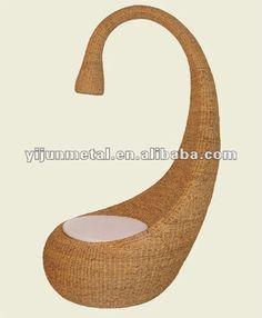 Diseñador outdoor rattan egg chair