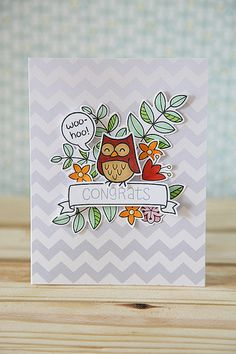 Lawn Fawn - Blissful Botanicals, Critters in the Forest, A Birdie Told Me, Home Sweet Home _ Woo-hoo, Congrats! by Nicole