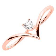 Designer Jewellery, Jewelry Design, My Heart, Heart Ring, Schmuck Design, Jewelry Collection, Gold Rings, Swarovski, Rose Gold