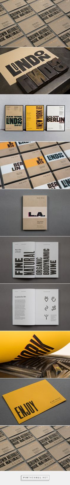 New Logo & Brand Identity for Raw Wine by The Counter Press — BP&O - created via https://pinthemall.net