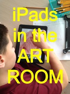 The excitement builds... Students love to work on the iPads...and who can blame them? There is an art to using them in the art room, and...