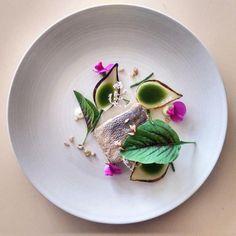 assiette gastronomique, servir du poisson de façon originale