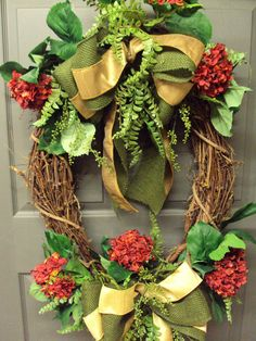 Door Wreath Spring Wreath Summer Wreath Oval by PeriwinkleSilks, $139.95