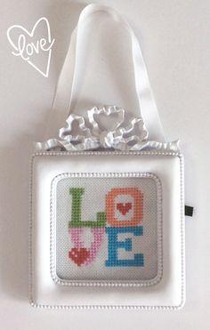 Cross stitch,çarpı işi, love