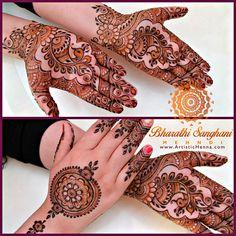 Love peacocks in bridal henna.  www.ArtisticHenna.com https://www.facebook.com/bharathisanghani
