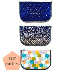 A Piece of Me pouch - PDF pattern / instant download