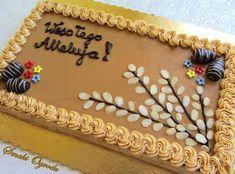 Smaki ogrodu: MAZUREK KAJMAKOWY PRZEKŁADANY Easter, Cake, Food, Easter Activities, Kuchen, Essen, Meals, Torte, Cookies