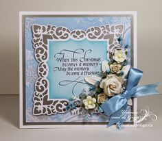 Quietfire Creations: When this Christmas becomes a memory... card with stamping