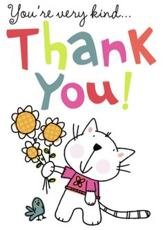 Image result for thank you cartoon card