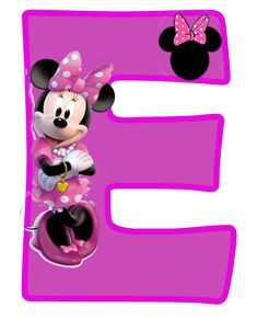 Minnie Free Alphabet in Purple. Alfabeto Púrpura de Minnie. Mickey E Minie, Minnie Png, Minnie Mouse Party, Mouse Parties, Disney Alphabet, Alphabet For Kids, Alphabet And Numbers, Disney Letters, Scrapbook Da Disney