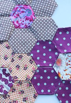 hexagons  #patchwork #sewing #quilting #fabric