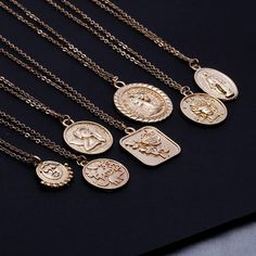 Z Simple Vintage Carved Coin Pendant Necklace for Women Statement Angel Virgin Mary Rose Flower Long Chain Necklace Coin Pendant Necklace, Long Chain Necklace, Simple Necklace, Necklace Types, Layer Necklace, Long Necklaces, Necklace Price, Jewelry Necklaces, Coin Jewelry
