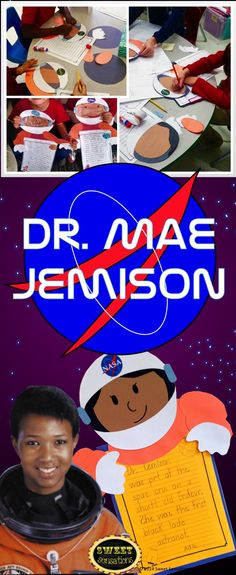 Students really enjoyed this craft activity that they completed after learning about the amazing and inspiring life of Dr. Mae Jemison. Made such a cute bulletin board! $4.00