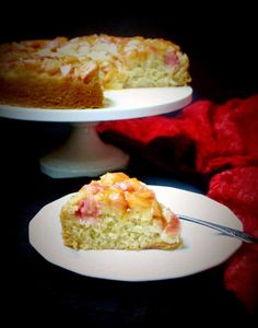 This vegan Rhubarb Ginger Upside-Down Cake will tickle your tastebuds and appetite with the tangy-sweet rhubarb and spicy-sweet candied ginger.