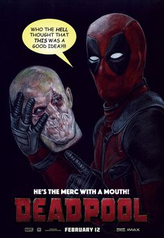 (Deadpool Movie Poster) By: Robert-Blancas Deadpool Movie 2016, Deadpool Movie Poster, Comic Books Art, Comic Art, Marvel Dc, Marvel Comics, Cool Posters, Movie Posters, Chimichanga