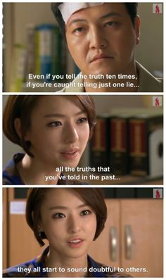 """""""I Hear Your Voice"""". #KDrama #Quote about #Lying"""