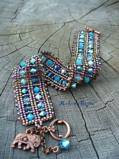 madame bijou: Bracelets - gorgeous tila and seed bead design