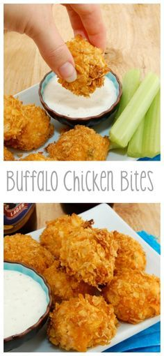 Buffalo Chicken Bites...oven baked, not fried! #SuperBowl