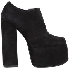 Jeffrey Campbell Women 140mm Druella Suede Platform Ankle Boots (206 CAD) ❤ liked on Polyvore featuring shoes, boots, ankle booties, heels, black, short black boots, black ankle boots, high heel bootie, high heel booties and high heel ankle boots