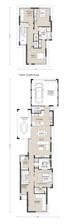 25 best Novo Hambugo house images on Pinterest House floor plans - plan maison plain pied 80m2