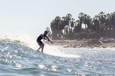 Brandon Blake noseriding California Street. Surf photo by Chris Grant, Jettygirl Online Surf Magazine.
