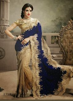 $159.00  Ethnic indian handwork velvet and net saree with stones, heavy zardosi work, lace and cutwork. #Indianwedding #Indianfashion #ethnicsaree #brideswear #Indianbride #Fashionsaree Shop now@http://www.sareeonline.com/proj/gallery/fullview.aspx?scode=brk201