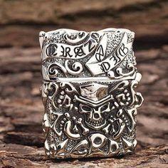 Japanese Handicraft Master Tibetan Silver Crazy Pig Zippo Lighter  www.kingzendo.com